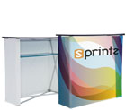 Fabric Pop-Up Podium with Shelf